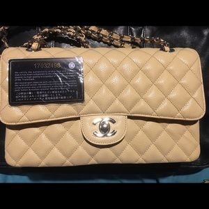 Chanel Double Flap Caviar Leather w/ CC SerialCard